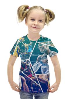 """Футболка с полной запечаткой для девочек """"Звезды НБА (NBA Stars)"""" - nba, нба, streetball"""