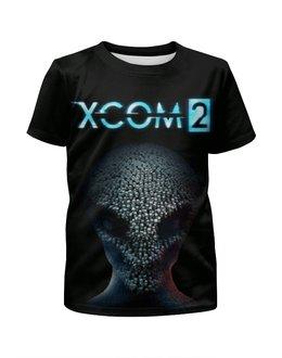 """Футболка с полной запечаткой для девочек """"X-COM 2"""" - x-com, x-com 2, икском"""