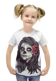 """Футболка с полной запечаткой для девочек """"Зомби хеллоуина"""" - хэллоуин, зомби, ужас, monster"""