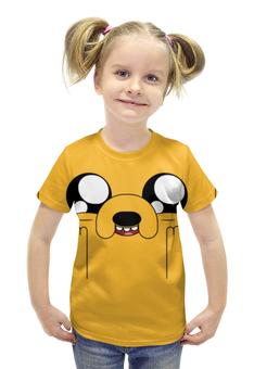"""Футболка с полной запечаткой для девочек """"Время приключений / Adventure Time"""" - мультфильм, рисунок, сериал, фин, джейк"""