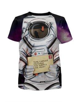 """Футболка с полной запечаткой для девочек """"Space. NASA"""" - space, космос, nasa, наса, thespaceway"""