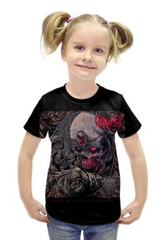 """Футболка с полной запечаткой для девочек """"Carnifex band"""" - skull, череп, death metal, рок музыка, carnifex"""