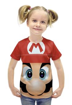 """Футболка с полной запечаткой для девочек """"Марио 3d"""" - mario, марио"""