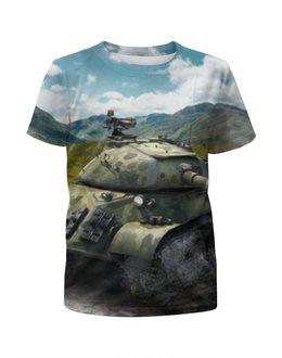 """Футболка с полной запечаткой для девочек """"World of Tanks"""" - world of tanks, wot"""