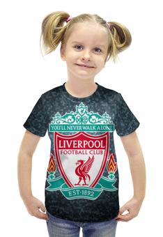 """Футболка с полной запечаткой для девочек """"Liverpool (Ливерпуль)"""" - ливерпуль, liverpool"""