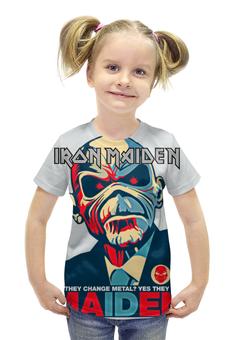 """Футболка с полной запечаткой для девочек """"Iron Maiden Band"""" - heavy metal, iron maiden, eddie, nwobhm, хеви метал"""