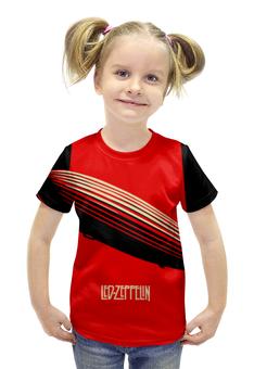 """Футболка с полной запечаткой для девочек """"Led Zeppelin"""" - rock, led zeppelin"""