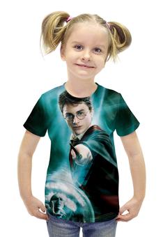 """Футболка с полной запечаткой для девочек """"Harry Potter"""" - гарри поттер, приключения, волшебник"""