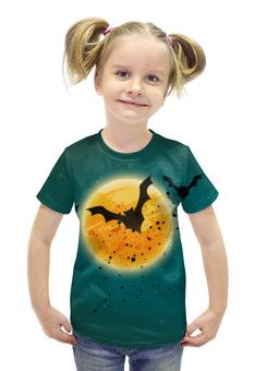 """Футболка с полной запечаткой для девочек """"Ночь хеллоуина"""" - хэллоуин, ужас, monster, монстр"""
