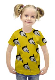 """Футболка с полной запечаткой для девочек """"SKULLS"""" - череп, хэллоуин, face, комиксы, хипстер"""