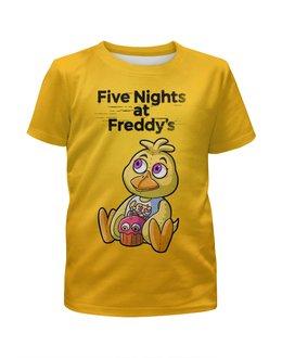 """Футболка с полной запечаткой для девочек """"Five Nights at Freddy's """" - мультик, ужастик, пять ночей у фредди, компютерная игра"""