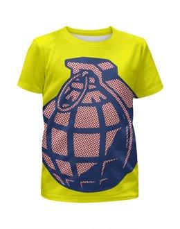 """Футболка с полной запечаткой для девочек """"Граната"""" - арт, поп арт, grenade, pop art"""