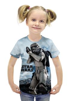 """Футболка с полной запечаткой для девочек """"Звёздные войны"""" - star wars, stormtrooper, штурмовик, дарта вейдера, лея органа"""