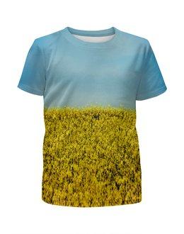 """Футболка с полной запечаткой для девочек """"Полевые цветы"""" - растение, весна, природа, цветочки, поле"""