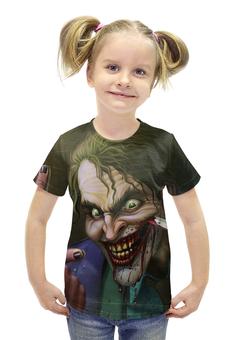 """Футболка с полной запечаткой для девочек """"Джокер"""" - рисунок, комиксы, batman, бэтмен"""
