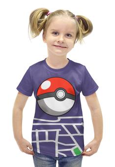 """Футболка с полной запечаткой для девочек """"Pokemon go"""" - игры, nintendo, pokemon go"""