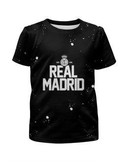 """Футболка с полной запечаткой для девочек """"Real Madrid by Design Ministry"""" - футбол, real, madrid, designministry, realmadrid"""