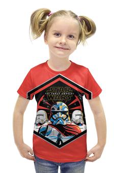 """Футболка с полной запечаткой для девочек """"Звездные войны"""" - star wars, стар варс, force awakens, восхождение силы"""
