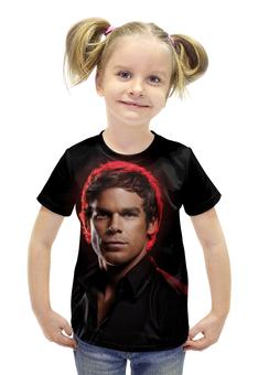 """Футболка с полной запечаткой для девочек """"Dexter"""" - dexter, декстер, кровь, сериал, убийца"""