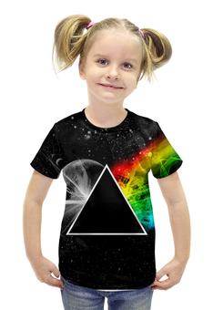 """Футболка с полной запечаткой для девочек """"Pink Floyd"""" - музыка, рок, космос, пинк флойд, pink floyd"""