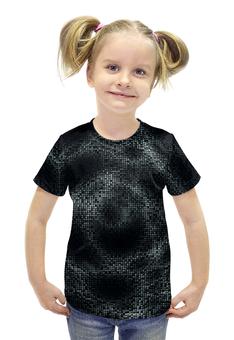 """Футболка с полной запечаткой для девочек """"SAMUR TECH!!!"""" - space, пиксели, геометрические волны, pixels, виртуальная реальность"""