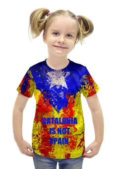 """Футболка с полной запечаткой для девочек """"свободная каталония"""" - каталония, catalonia, референдум по каталонии"""