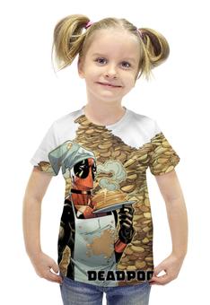 """Футболка с полной запечаткой для девочек """"Deadpool"""" - marvel, deadpool, дэдпул, wade wilson, блинчики"""