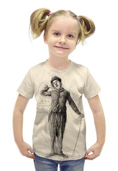 """Футболка с полной запечаткой для девочек """"Charlie Chaplin"""" - кино, комик, charlie chaplin, чарли чаплин, актёр"""