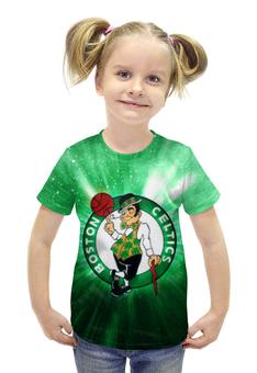 """Футболка с полной запечаткой для девочек """"Бостон Селтикс (Boston Celtics)"""" - бостон селтикс, boston celtics"""