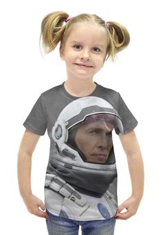 """Футболка с полной запечаткой для девочек """"Макконахи"""" - планета, космос, земля, интерстеллар, interstellar"""
