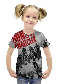 """Футболка с полной запечаткой для девочек """"Сыны анархии / Sons of Anarchy"""" - кино, сериал, сыны анархии"""