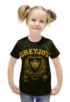 """Футболка с полной запечаткой для девочек """"Игра Престолов. Дом Грейджоев"""" - игра престолов, game of thrones, грейджои, house greyjoy, дом грейджоев"""