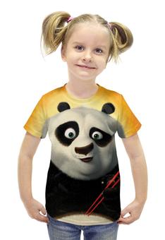 """Футболка с полной запечаткой для девочек """"Кунг-Фу Панда"""" - животные, мультфильм, panda"""