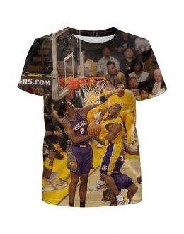 "Футболка с полной запечаткой для девочек ""Lakers - Kobe"" - спорт, баскетбол, nba, нба, kobe bryant"