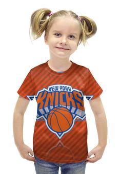 """Футболка с полной запечаткой для девочек """"Нью-Йорк Никс"""" - nba, нба, new york knicks"""