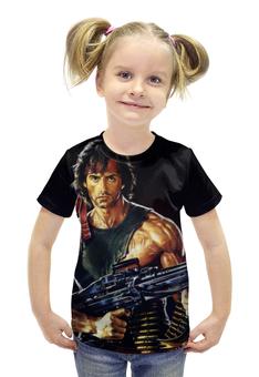 """Футболка с полной запечаткой для девочек """"Рэмбо (Rambo)"""" - сталлоне, рэмбо, rambo"""