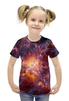 """Футболка с полной запечаткой для девочек """"SPACE"""" - star, space, звезды, космос, галактика"""