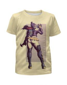 """Футболка с полной запечаткой для девочек """"Бэтгёрл / Batgirl"""" - комикс, рисунок, кино, бэтмен, бэтгерл"""