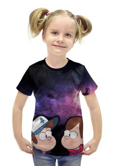 """Футболка с полной запечаткой для девочек """"Gravity Falls"""" - гравити фолз, диппер, мэйбл"""
