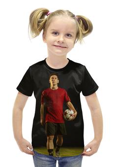 """Футболка с полной запечаткой для девочек """"Лионель Месси"""" - футбол, barcelona, messi, барселона, аргентина"""