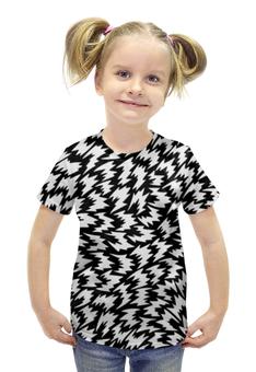 """Футболка с полной запечаткой для девочек """"SAMUR!!! АБСТРАКЦИЯ"""" - узор, огонь, головоломка, орнамент, pattern"""