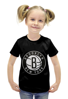 """Футболка с полной запечаткой для девочек """"Бруклин Нетс (Brooklyn Nets)"""" - nba, нба, бруклин нетс, brooklyn nets"""