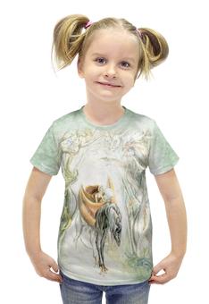 """Футболка с полной запечаткой для девочек """"Странники"""" - арт, авторские майки, животные, лес, фантазия"""