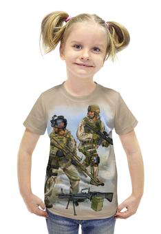 """Футболка с полной запечаткой для девочек """"US Army"""" - америка, солдаты, арт дизайн, us army, армия сша"""