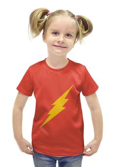 """Футболка с полной запечаткой для девочек """"The Flash"""" - флэш, the flash"""