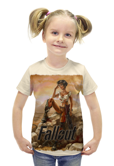 """Футболка с полной запечаткой для девочек """"Fallout game"""" - games, игры, game, fallout, фаллоут"""