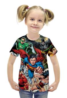 """Футболка с полной запечаткой для девочек """"Супергерои комиксов"""" - комиксы, герои, супергерои, superheroes"""