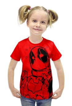 """Футболка с полной запечаткой для девочек """"Deadpool"""" - прикол, comics, marvel, deadpool, дэдпул"""