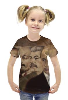 """Футболка с полной запечаткой для девочек """"Ленин, Сталин, Путин"""" - ссср, ленин, россия, путин, сталин"""