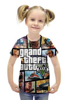 """Футболка с полной запечаткой для девочек """"Grand theft auto 5"""" - игры, grand theft auto 5, гта 5"""